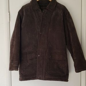 Colebrook Suede/Leather Brown Mens Coat Sz M